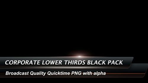 Corporate Lower Thirds Black Pack