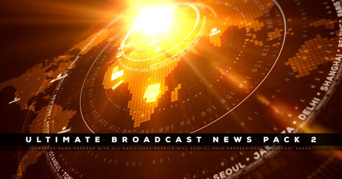 Download Ultimate Broadcast News Pack 2 by EFEKT_Studio