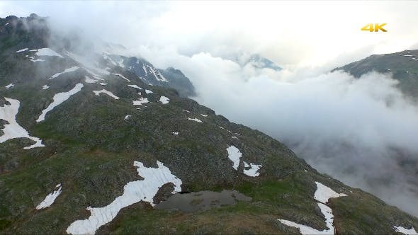 Thumbnail for Aerial Glacial Lake and Alpine Tundra 1