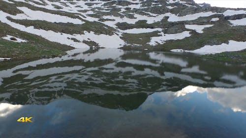 Iced Mountain Lake