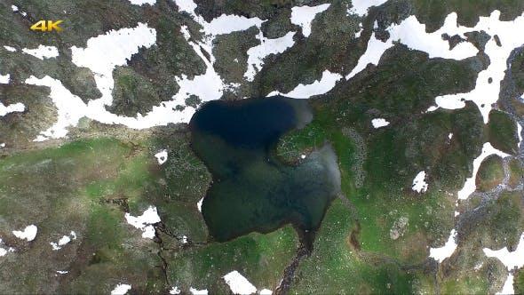 Aerial Glacial Lake and Alpine Tundra 4