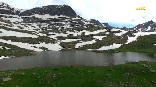 Aerial Glacial Lake and Alpine Tundra 6