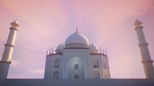 Taj Mahal Sunset Godrays