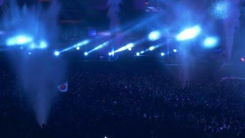 Crowd Party Festival lustig