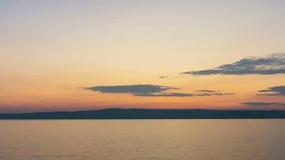 Time lapse ocean beach sunset sky