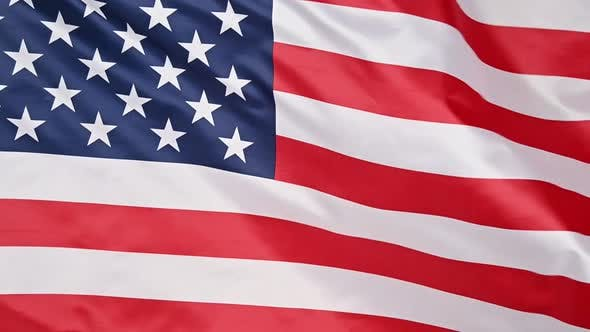 Thumbnail for Background of US American flag waving in the wind