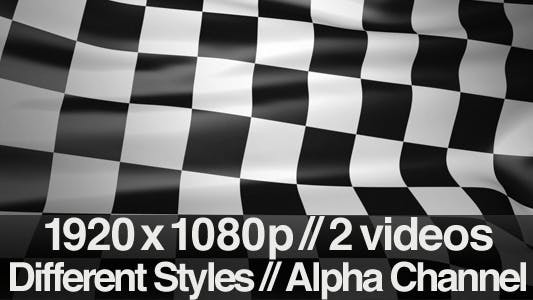 Thumbnail for Checkered Finish Line Race Flag - Series of 2