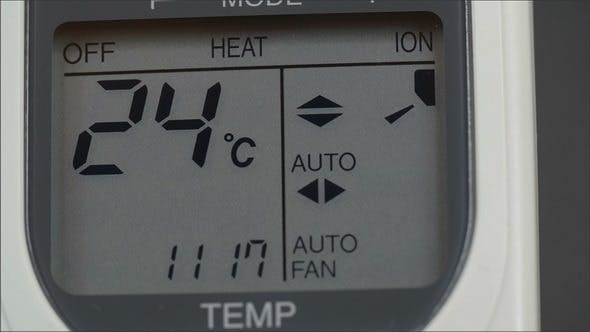 Thumbnail for Screen of an Aircon Machine with Temperatures