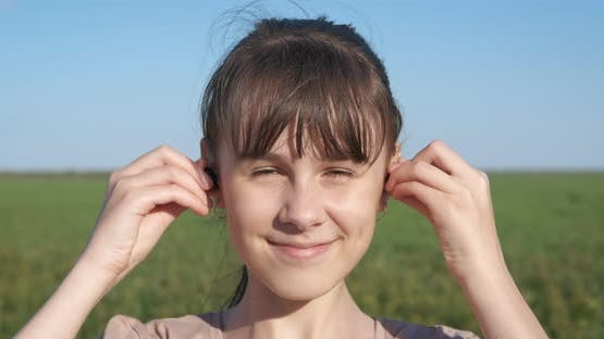 Teen with Wireless Headset