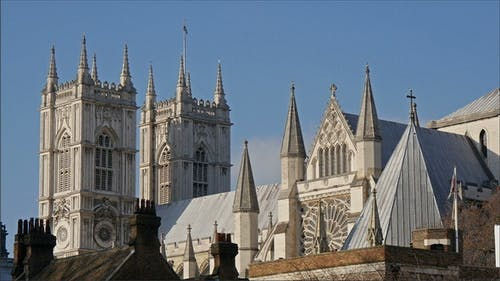 The Top View of the Westminster Abbey Church