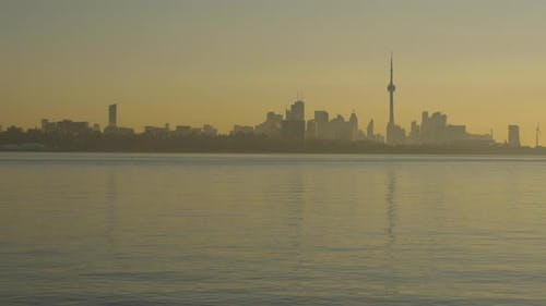 Lake Ontario and the Old Toronto district