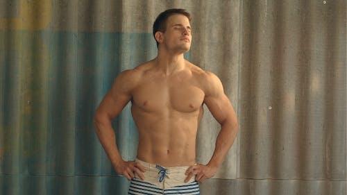 Sport Man Flexing Neck