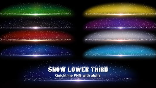 Snow Lower Third 1