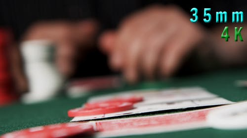 Placing A Bet With Poker Chips 04