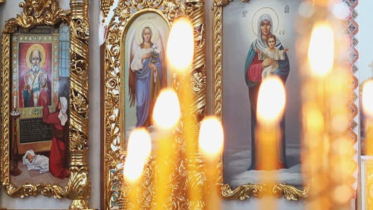 Thumbnail for Christian Icons in a Church