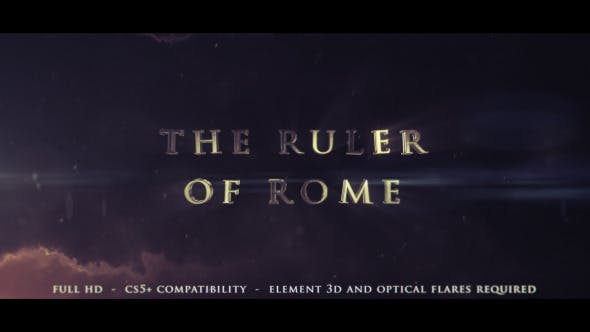 Cover Image for The Ruler Of Rome - Cinematic Trailer
