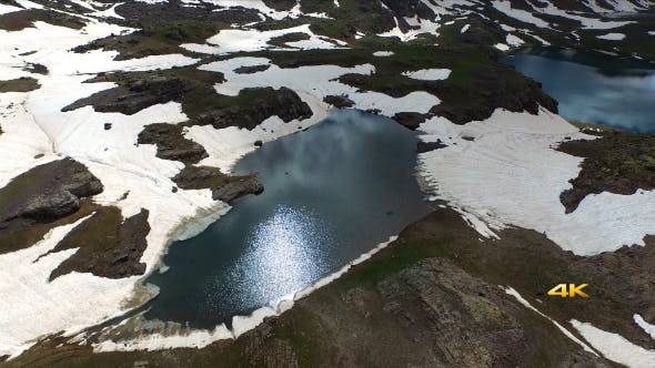 Cover Image for Aerial Mountains and Glacier Lakes 2