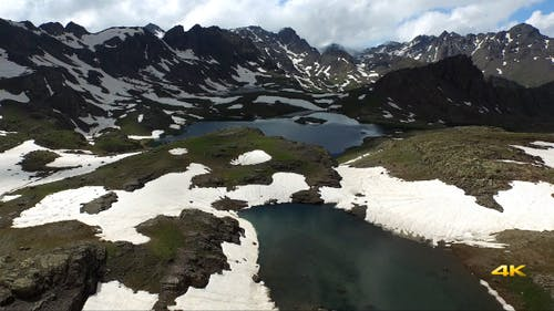 Aerial Mountains and Glacier Lakes 4