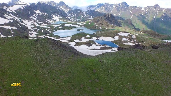 Thumbnail for Aerial Mountains and Glacier Lakes 6