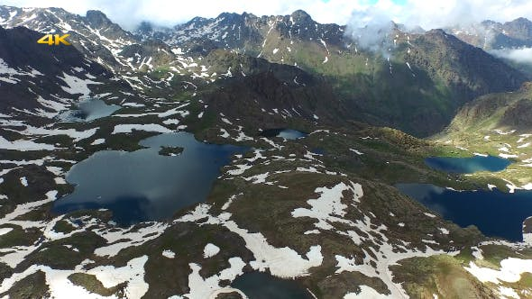 Thumbnail for Aerial Mountains and Glacier Lakes 7