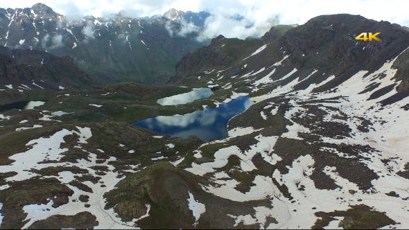 Thumbnail for Aerial Mountains and Glacier Lakes 8