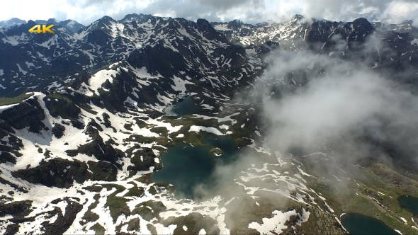 Mountain Lakes and Clouds