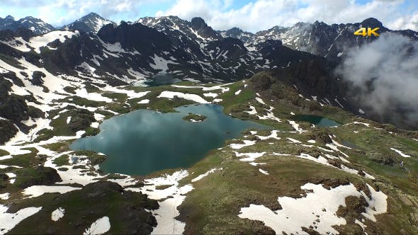 Thumbnail for Aerial Mountains and Glacier Lakes 10