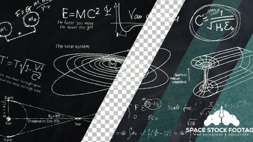 Équations de tableau noir en astronomie et en astrophysique