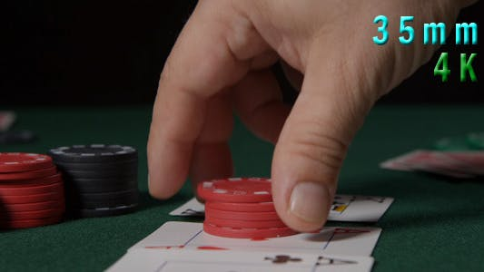 Thumbnail for Poker Game Chips On Top Of Cards 06