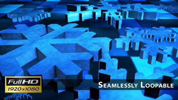 Thumbnail for Broadcast Spinning Hi-Tech Snow Flakes 01