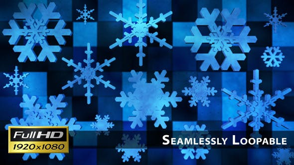 Thumbnail for Broadcast Spinning Hi-Tech Snow Flakes 02