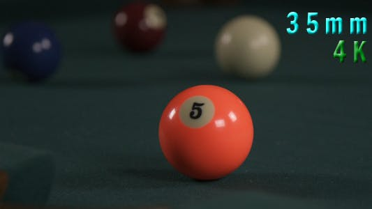 Cover Image for Billiard Pool Ball 5 Shot Into The Hole 03