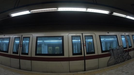 Thumbnail for Two Trains Leaving Underground Station