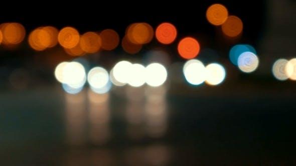 Thumbnail for Defocused Night City Traffic