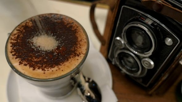 Thumbnail for Pouring Sugar In Coffee And Stirring Up