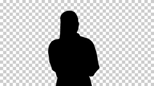 Silhouette female doctor, Alpha Channel