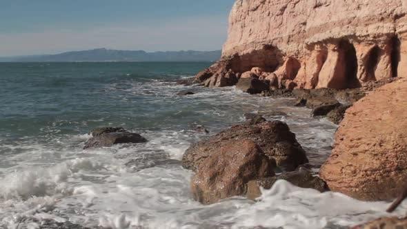 Thumbnail for Cliffs and Rocky Shore Mediterranean Sea in Spain. Salou.