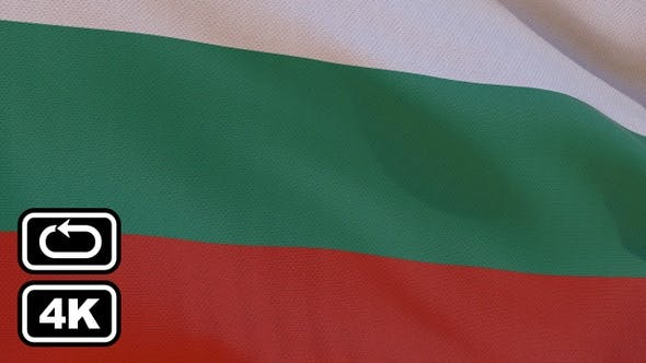 Thumbnail for Bulgaria Flag 4K Seamless Loop