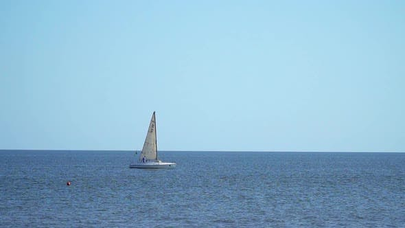 Thumbnail for Sailing Yacht Floating in the Sea