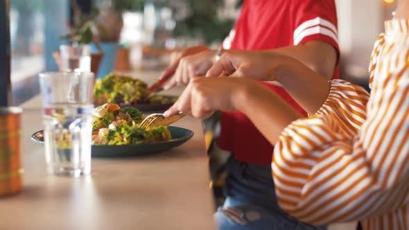 Thumbnail for Female Friends Eating at Restaurant 6