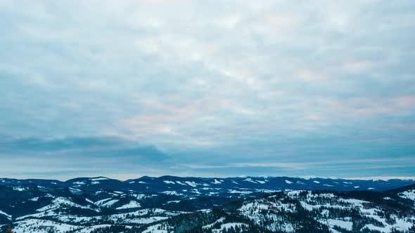 Cover Image for Sundown Winter Mountain, Timelapse