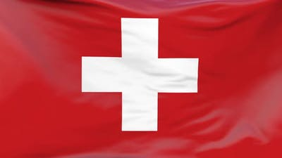 Switzerland flag waving Background