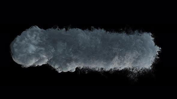 Dense Smoke And Particles Rising