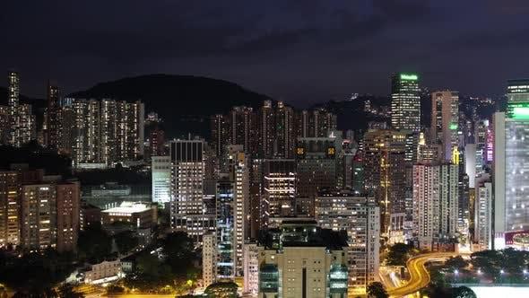 Thumbnail for Timelapse of Night Illuminated Hong Kong