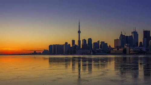 Toronto, Canada - Timelapse  - Skyline during the Sunset
