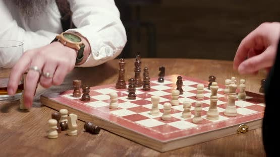 Man Gets a Checkmate During a Chess Game