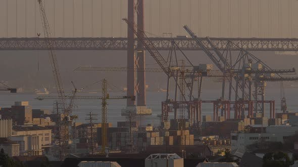 Container Port and Car Bridge