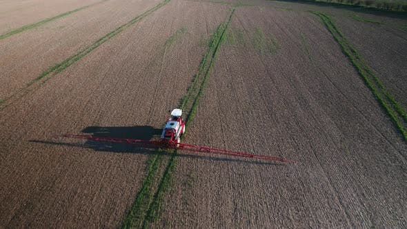 Thumbnail for Tractor Spraying Glyphosate Herbicide onto Fields