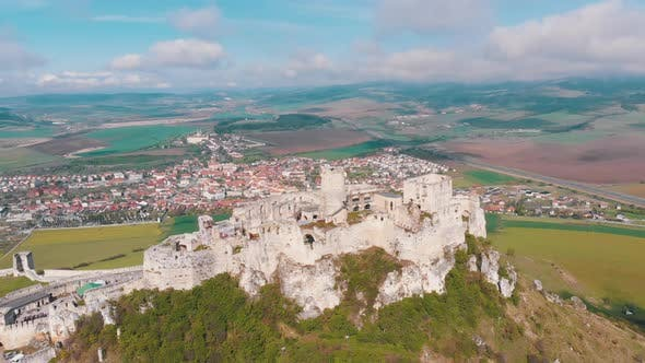 Thumbnail for Aerial View on Spissky Hrad. Slovakia. The Ruins of Stone Castle on the Hill