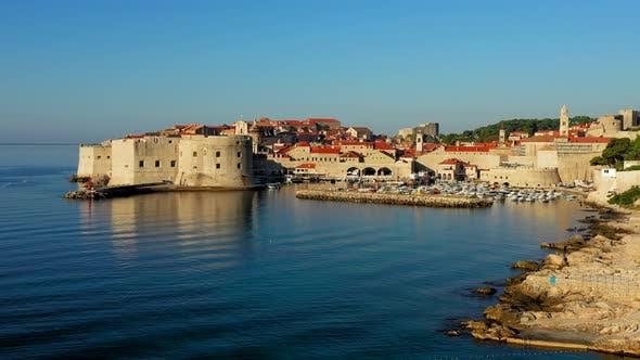 Thumbnail for Croatian coastline revealing Dubrovnik Old Town